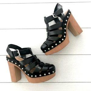 Nine West || Model Me Caged Platform Sandals 6